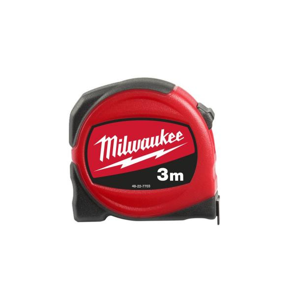 Рулетка MILWAUKEE SLIM 3 м / ширина 16 мм 48227703